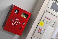 Fire warden box Royalty Free Stock Photos