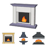 Fireplace set collection icons in cartoon style vector symbol stock illustration web. Fire, warmth and comfort.Fireplace set collection icons in cartoon style Stock Photo