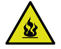 Fire warning. A typical fire warning sign Royalty Free Stock Photo