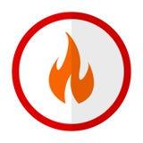Fire warning flat icon Stock Photo