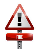 Fire warning sign illustration design Royalty Free Stock Images