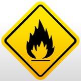 Fire warning sign Stock Photos