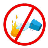 Fire warning sign. Vector illustration Stock Image