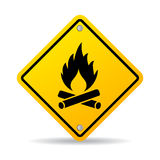 Fire warning sign. Vector illustration Stock Images