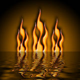 Fire water vector illustration