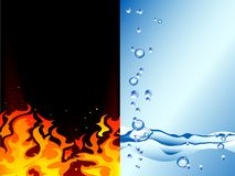 Fire and water. Abstract  illustration Stock Image