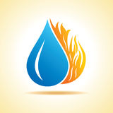 Fire and water concept Stock Photos