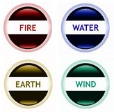 Fire water earth wind Royalty Free Stock Image