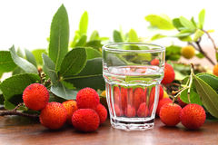 Fire water made from fruit medronho-arbutus- Stock Photo