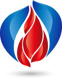 Fire and water, plumber, energy logo. Fire and water, plumber and energy logo Royalty Free Stock Photography