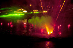 Fire and Water Show Royalty Free Stock Photography