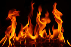Fire wave Stock Image