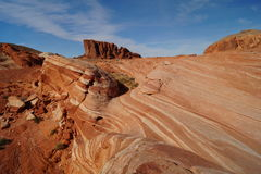 Fire Wave. In Valley of Fire, Nevada Royalty Free Stock Photos