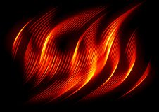 Fire Wave On Black Royalty Free Stock Photo