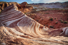 The Fire Wave at the Valley of Fire State Park Royalty Free Stock Photography