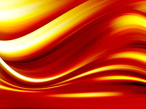 Fire waves. Fire dynamic waves, digital background. Abstract Illustration Royalty Free Stock Photo
