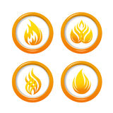 Fire web buttons set Royalty Free Stock Photos