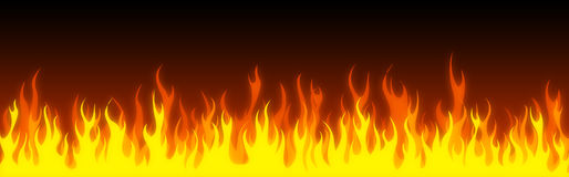 Fire web header / banner Royalty Free Stock Image