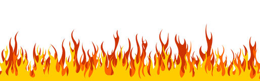 Fire web header / banner Stock Photo