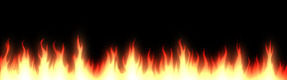 Fire web header / banner Stock Photos