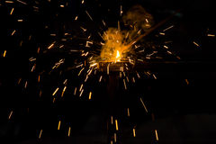 Fire of welding Royalty Free Stock Photo