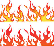 Fire on white Royalty Free Stock Photo