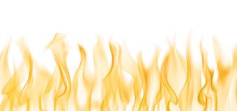Fire on white background. Background image of flames over white Royalty Free Stock Image