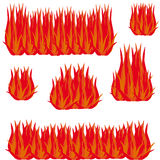 Fire on white background. Vector illustration Royalty Free Stock Images