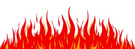 Fire on a white background. Vector illustration for design. For stock Royalty Free Stock Image