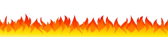 Fire on a white background. Vector illustration for design. Vector for stock Royalty Free Stock Photos