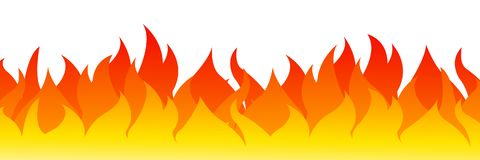 Fire on a white background. Vector illustration for design - for stock. Fire on a white background. Vector illustration for design - stock Royalty Free Stock Image