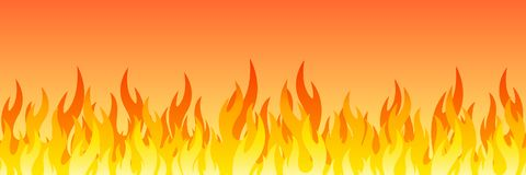 Fire on a white background. Vector illustration for design. Vector royalty free stock image