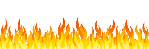 Fire on a white background. Vector illustration for design - vector. Fire on a white background. Vector illustration for design - stock vector Stock Images