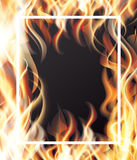 Fire and White Frame. Vector Illustration Royalty Free Stock Photo