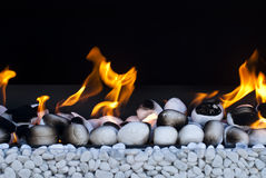 Fire with white rocks Royalty Free Stock Photography