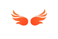 Fire Wings. In flat style Stock Images