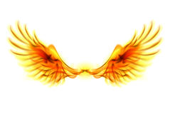 Fire wings. Illustration of fire wings on white background Royalty Free Stock Image