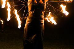 Fire woman Stock Photos