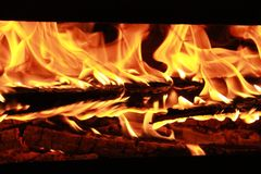 Fire: A wonderful and dangerous dancer that engulf everything with its art royalty free stock photo