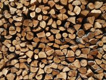 Fire Wood. Giant stack of cut pine fire wood Royalty Free Stock Photography