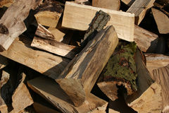 Fire wood. Firewood, seen in Bavaria, Germany stock image
