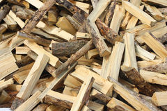Fire wood. Lying in the disorder Stock Photo