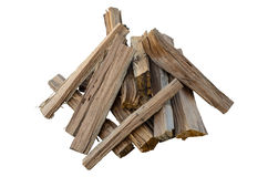 Fire Wood. On White Background Royalty Free Stock Photos