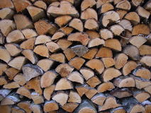 Fire wood. Small stack of fire wood, good for background use Royalty Free Stock Image