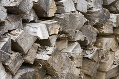 Fire wood. A closeup of cut, split, and aged fire wood Stock Photography