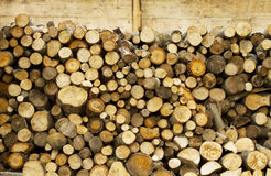 Fire wood barn detail Stock Photography