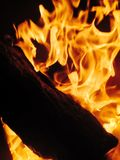 Fire - wood burning Royalty Free Stock Images