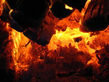 Fire wood burning in the furnace Royalty Free Stock Photos