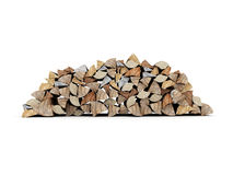 Fire wood concept rendered isolated Royalty Free Stock Photos
