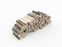 Fire wood concept rendered isolated. On white Stock Photography